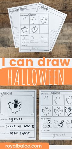 How to Draw Halloween Fun Writing Activity - Royal Baloo