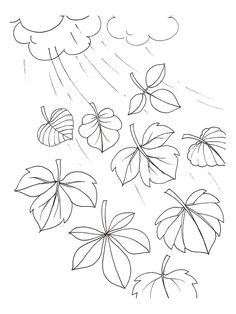 coloring page Leaves on Kids-n-Fun. Coloring pages of Leaves on Kids-n-Fun. More than coloring pages. At Kids-n-Fun you will always find the nicest coloring pages first! Fall Coloring Sheets, Fall Coloring Pages, Leaf Coloring, Leaf Stencil, Kids Art Class, Leaf Template, Autumn Activities, Zentangle Patterns, Floral Illustrations