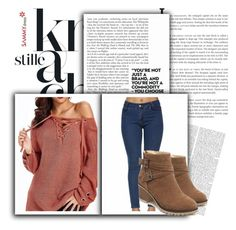"""Let me hold both your hands in the holes of my sweater"" by emina-095 ❤ liked on Polyvore"