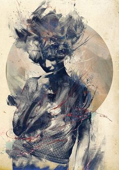 'Eurydice' 2012 by Russ Mills, via Behance.  So enjoy his style and technique.
