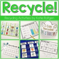 Recycling Activities - Celebrate Earth Day or a science unit on recycling with this great download. You get a sort, pocket chart cards, labeling page, graphs, magazine hung, interactive book activity, two crown templates, and addition game. This is a supplemental download to enhance the lesson already provided by your curriculum. It's great for your Kindergarten students in April or ANY time of year. (kinders, homeschool, home school)