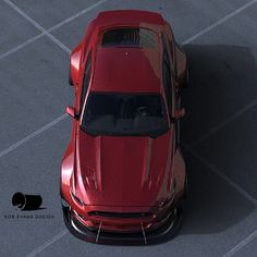 Bob Evans Design's Wide Body 2015 Mustang rendering. I'm all in on this design idea.   lessonator.com