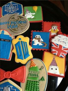 Doctor Who cookies Themed Parties, Party Themes, Party Ideas, Cookie Do, Cookie Ideas, Royal Icing Cookies, Sugar Cookies, Doctor Who, Cute Cookies