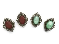 "FJ 22 // ""antique brooch"" Plugs #267"