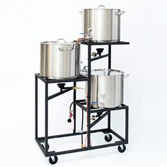 Professional Three Tier All Grain Brewery - Heavy Duty Kettles - 10 Gallon Nano Brewery, Home Brewery, Brew Stand, Beer Brewing Kits, Brewing Company, Brewery Design, Home Brewing Equipment, Beer Recipes, Coffee Recipes
