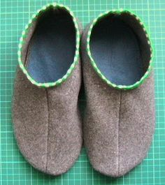 Recycled Slipper DIY from old wool blankets.