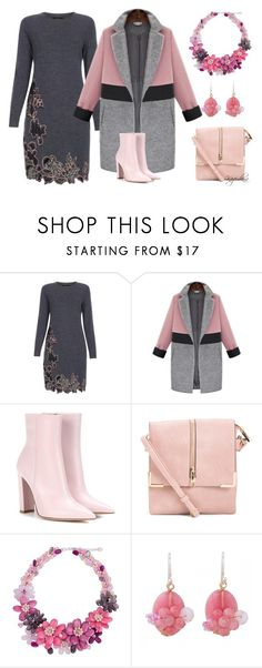 """""""Pink Winter Warmth"""" by kazemkina ❤ liked on Polyvore featuring Paul Smith, Gianvito Rossi and NOVICA"""