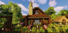 Minecraft Projects, Minecraft Designs, Minecraft Ideas, Minecraft Starter House, Minecraft Bridges, Starter Home, Game Design, Cabin, House Styles