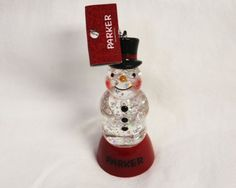 Personalized Color Changing Lighted Snowman Ornament-Parker St. Nicholas Square http://www.amazon.com/dp/B005QC6TRA/ref=cm_sw_r_pi_dp_rJrYvb13XHTQ2