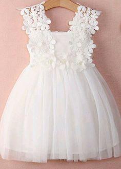 kid white lace dress - kid flower girl dress  #fashion