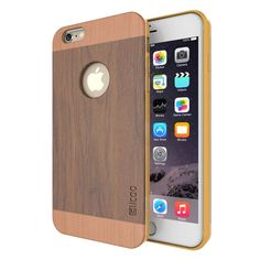 [$7.59] Slicoo Artistic Wood Grain Dual-layer Cherry Wood + TPU Combination Case for iPhone 6 & 6s