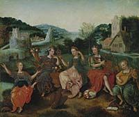 The Five Senses, c.1580–90, attributed to Antoon Claeissins. (National Gallery of Canada)