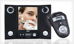 Groupon - $59 for an iSing Shower Radio and Fogless Mirror ($119.99 List Price). Free Shipping. in Online Deal. Groupon deal price: $59.00