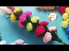 Paper Flowers Craft, Flower Crafts, Youtube, Ideas, Handmade Crafts, Templates, Flowers, November, Youtubers