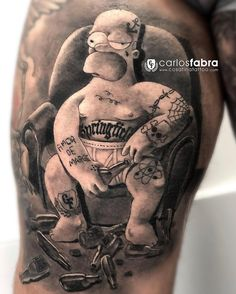 Carlos Fabra's black&grey realistic tattoo Tattoo artist Carlos Fabra, black and grey author's realistic tattoo