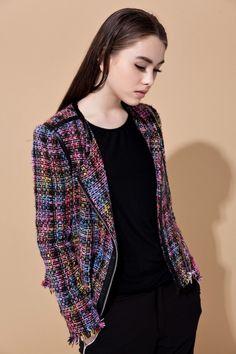 Color tweed jacket - FrontRowShop