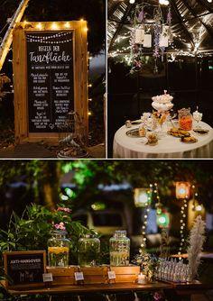 Kreative DIY Hochzeitsdeko Ideen: Candy Bar, Anti-Hangover Wasser Bar und Hochzeitsschilder mit Beleuchtung