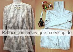 Bricomoda : Rehacer un jersey que ha encogido