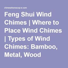 Things to consider when using wind chimes in Feng ShuiQuestion: What is the best use of wind chimes as a remedy for good Feng Shui in Feng Shui?Feng Shui and wind chimesFind out why wind Feng Shui Wealth, Feng Shui Energy, Feng Shui Tips, Feng Shui House, Feng Shui Bedroom, Feng Shui Wind Chimes, Feng Shui History, Feng Shui Principles, Bamboo Wind Chimes