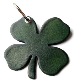 Customizable Leather Good Luck Clover Key Chain by seattleleather, $10.75
