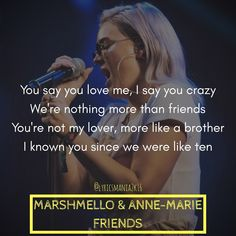 Marshmello & Anne-Marie-Friends #Marshmello #AnneMarie #Friends #lyricsmania2k16 #lyricsquote #songlyrics #songquotes #lyrics #lyricscard #lyricsoftheday #lyricscards