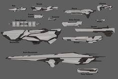 Ideas Concept Art Space Ship Spacecraft For 2019 Space Ship Concept Art, Alien Concept Art, Concept Ships, Weapon Concept Art, Alien Spaceship, Spaceship Design, Cyberpunk, Starship Concept, Sci Fi Spaceships
