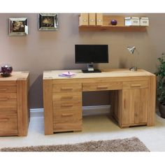 the atlas solid oak collection captures the popularity of oak furniture featuring chunky oak construction complemented with contemporary lines and a soft atlas chunky oak hidden home office