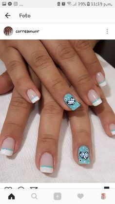 Nails sencillas elegantes Ideas for 2019 Pretty Nails, Cute Nails, Tribal Nails, Gold Glitter Nails, Toe Nail Designs, Cute Nail Art, Perfect Nails, French Nails, Manicure And Pedicure