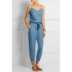 Splendid Chambray jumpsuit (€315) ❤ liked on Polyvore featuring jumpsuits, jump suit, light blue jumpsuit, chambray jumpsuit and jumpsuits & rompers