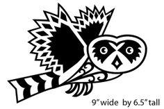 Hawaiian Owl Vinyl Decal by chongolio on Etsy, $5.00