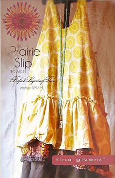 The Prairie Slip Sewing Pattern by Tina Givens
