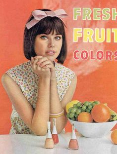 Colleen Corby Nail Polish Ad 1960s
