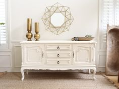 Shabby Chic Vintage French Provincial Media TV Stand Buffet / SideBoard Dresser #169