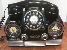 Retro Metropolis Telephone with Clock & Radio TCR 300
