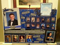 Cole's graduation memory board. Thank you for the idea http:/creationsfrommyheart.blogspot.com     Great way to display pictures! Photo for ideas only