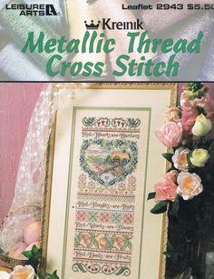 CCS LEISURE ARTS 2943  Metallic Thread Cross by BusyBeaverBoutique