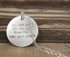 ACTUAL Handwriting Jewelry - Memorial Keepsake or Personalized Gift Necklace. $32.00