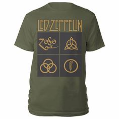 Looking for Led Zeppelin 'Gold Symbols & Black Squares' (Green) T-Shirt ? Check out our picks for the Led Zeppelin 'Gold Symbols & Black Squares' (Green) T-Shirt from the popular stores - all in one. Led Zeppelin T Shirt, Tour T Shirts, Men Shirts, Black Square, Mens Big And Tall, Tshirts Online, Adulting, Shirt Style, Mens Tops