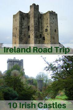 Travel the World: 10 Irish castles to visit on an Ireland road trip. #Ireland #castles #travel