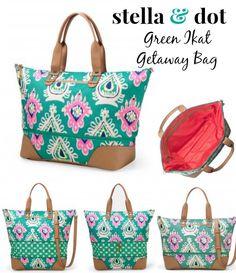 My new favorite bag, the Getaway bag in Green Ikat. #StellaDot #bags #spring http://www.stelladot.com/sarahtaliaferro