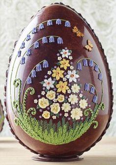 decorated chocolate egg-- via Alpenstrasse