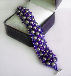 Free pattern for bracelet Royal Violet