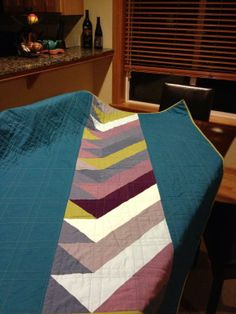 Half Square Triangle Quilt by Sue sew crafty | Quilting Ideas --- gorgeous back.