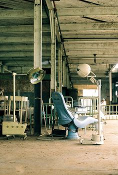 Inside the decaying ruins of Henry Ford's failed utopia: abandoned hospital furniture, Fordlandia, Brazil. Abandoned Houses, Abandoned Places, Places Around The World, Around The Worlds, Adirondack Chair Plans, Abandoned Hospital, Weird World, Ghost Towns, Places Ive Been