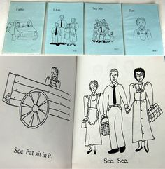 Early FLDS readers (available on eBay from Spellbinding Books Utah, http://www.ebay.com/itm/RARE-Collection-of-39-FLDS-Childrens-Books-Illustrated-Polygamy-Warren-Jeffs-/401148357364). They show the FLDS mindset is taught to children from an early age: Father has two wives, the family revolves around Father, families are very large, and everyone is smiling (and so keeping sweet).