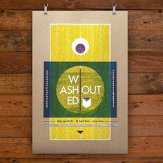Washed Out Poster by Hammerpress.  #hammerpress #art #poster #gigposter #print #graphic #screenprint #artprint