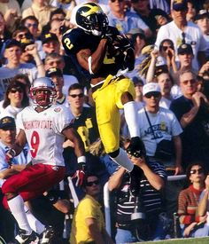 The one and only Charles Woodson - Heisman Trophy winner.  Runner up that year was Peyton Manning.
