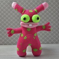 Soft sculpture sock monster doll gift for her Cute plushy