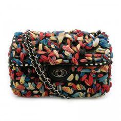 Chiffon Embellished Shoulder Bag from Hallomall