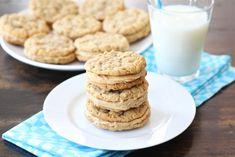Peanut Butter Oatmeal Sandwich cookies - on my must make list! @twopeasandpod